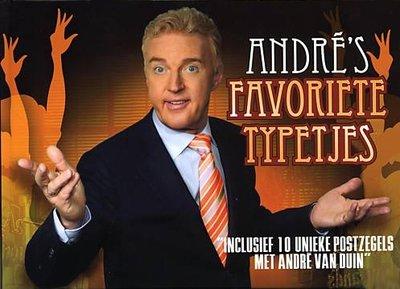 Andre's Favoriete Typetjes (Boek + 10 Postzegels)